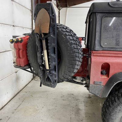 Spare tire carrier restoration and fabrication 1 (cracked welds and bent)